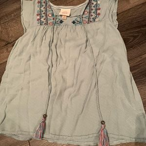 Knox rose mint green embroidered tank